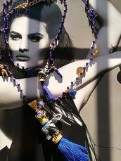 Circus,collana rosario con charms portafortuna