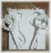 2 stampi chiave in silicone
