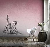 Adesivo murale Ballerina classica in posa statica
