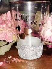 Bomboniera personalizzata matrimonio nascita battesimo laurea comunione piattino candela bicchiere anfora