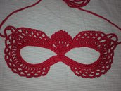 Maschera per carnevale, all'uncinetto, per bimbe/ragazze/donne, bello in maschera