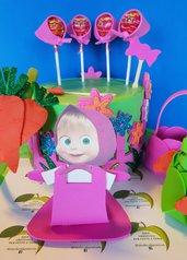 Kit festa compleanno Masha e Orso (103 pezzi)