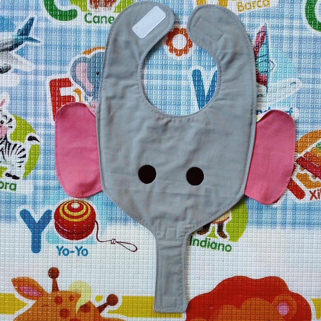 Bavaglino ELEFANTE, bavaglini impermeabili, bavaglini personalizzati, regalo originale per il bebé