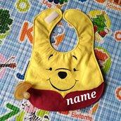 Bavaglino WINNIE THE POOH, bavaglini impermeabili, bavaglini personalizzati, regalo originale per il bebé