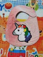 Bavaglino UNICORNO, bavaglini impermeabili, bavaglini personalizzati, regalo originale per il bebé