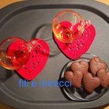 Sottotazze cuore uncinetto/ idea regalo lui lei / San Valentino / festa della mamma