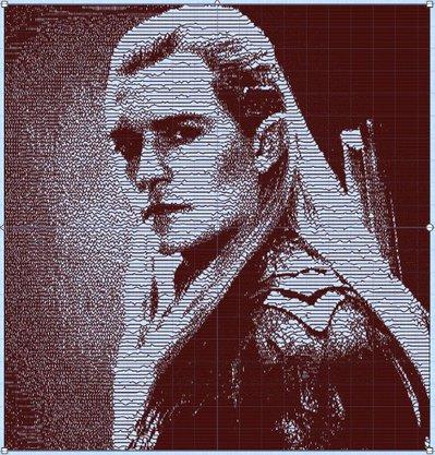 Legolas, Il Signore degli Anelli, file di ricamo progettazione digitale. INSTANT DOWNLOAD