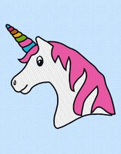 Unicorno ricamo, file di progettazione, ricamo digitale INSTANT DOWNLOAD
