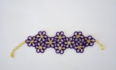Bracciale fiori viola