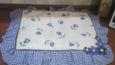 Copri fornelli standard floral blue