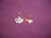 orecchini teiera e tazza