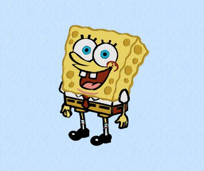 Spongebob ricamo, embroidery design. INSTANT DOWNLOAD