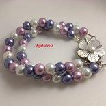braccialetto perle di vetro
