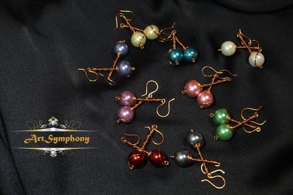 Orecchini pendenti vari colori
