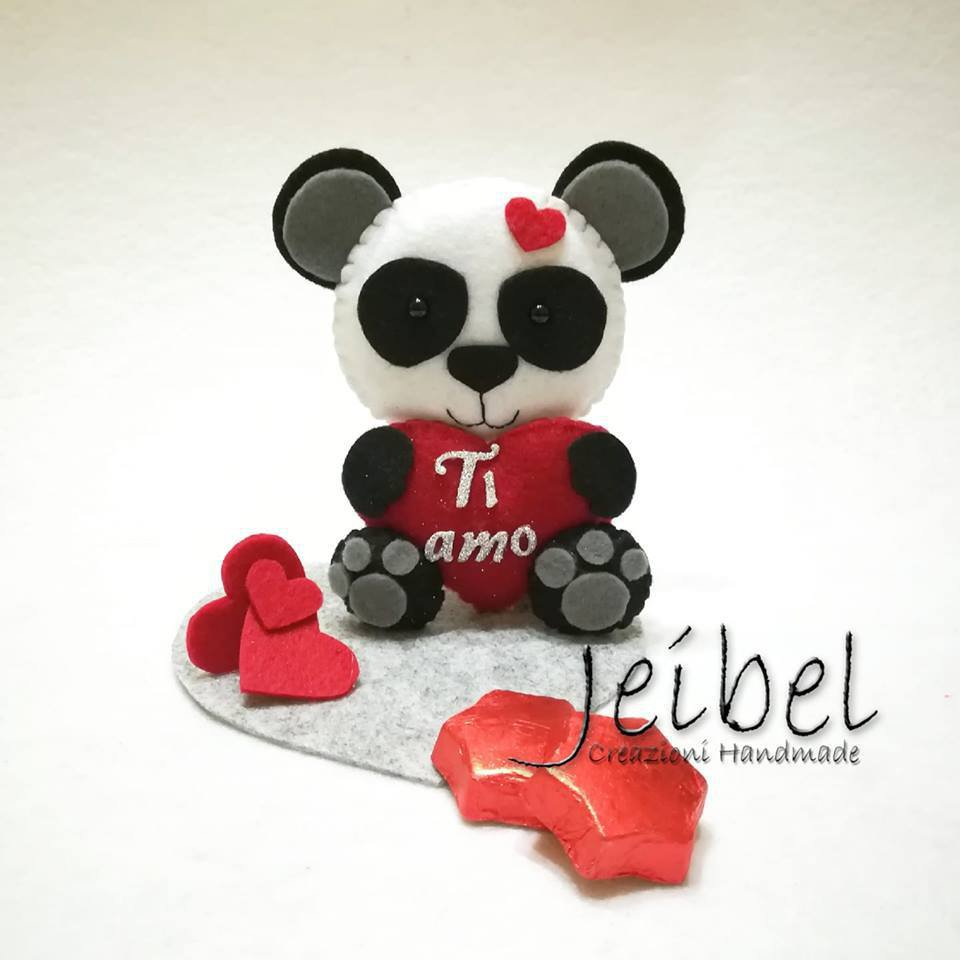 Panda San Valentino pannolenci