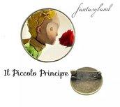Spilla il piccolo principe cabochon vetro regalo amicizia amore