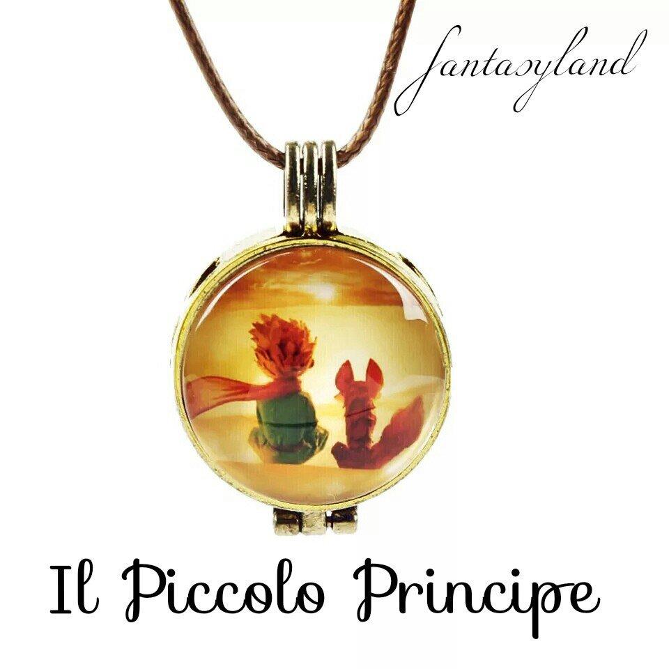 Ciondolo piccolo principe collana profumo regalo amore favola