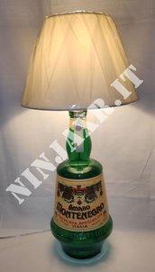 Lampada Bottiglia vuota 3 Litri Amaro Montenegro arredo riciclo creativo riuso idea regalo abat jour