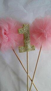 Numeri glitterati per decorazioni  feste e compleanni