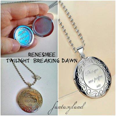 Ciondolo Renesmee twilight Breaking dawn medaglione foto locket regalo amore