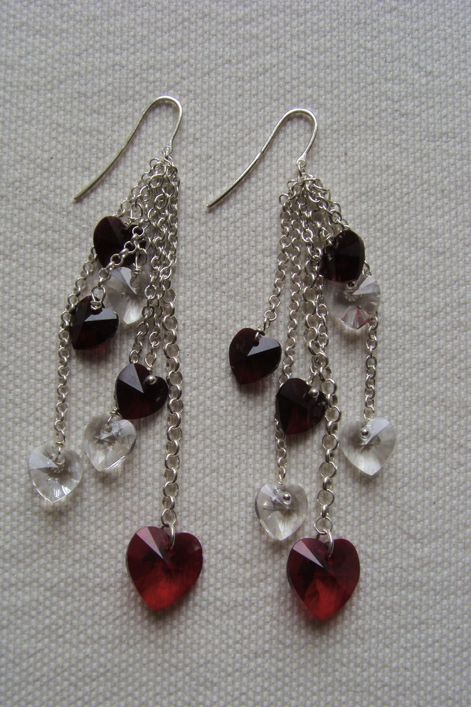 orecchini argento 925 e swarovski