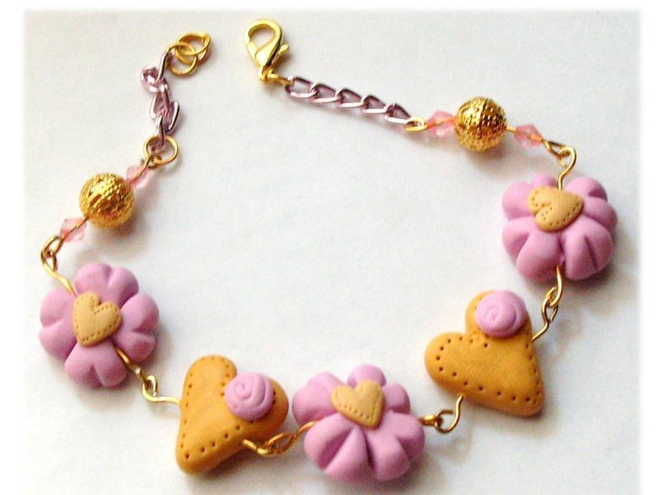 Bracciale heart-flowers