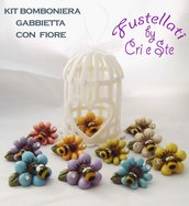 Kit mini gabbietta/con fiore