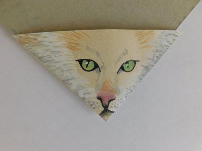 segnalibri angolari in cartoncino mod. gatto