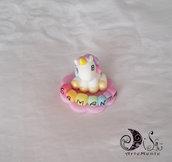 Bomboniera unicorno e arcobaleno battesimo e compleanno bimba personalizzabile