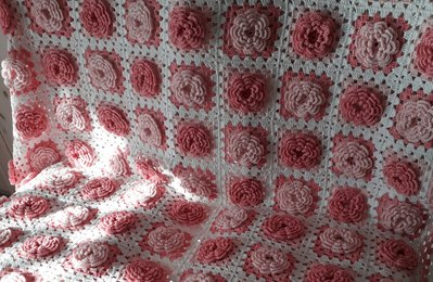 Prato di rose rosa plaid