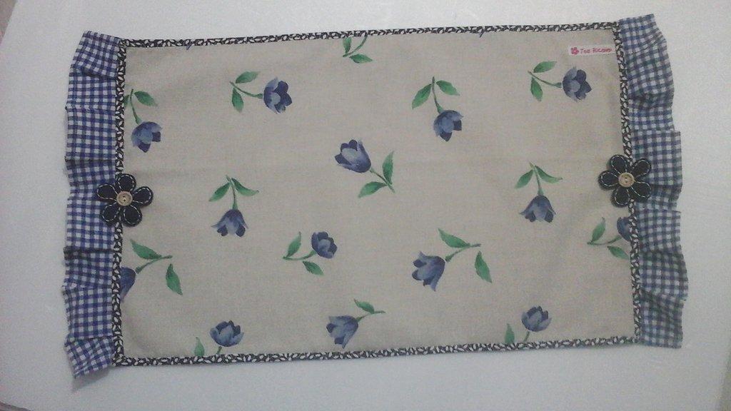 Tovaglietta,  poggia vassoio, piccolo runner flora blue
