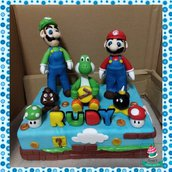 Cake Topper Super Mario Bros