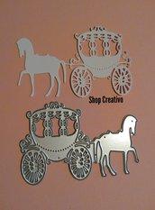 Fustellato carrozza principessa fommy cartoncino