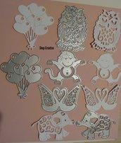 Fustellato  animali  palloncini in cartoncino fommy