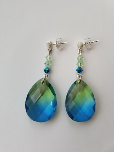 Orecchini Argento Green Blue