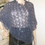 poncho coprispalle  in lana mohair