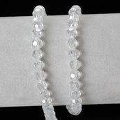 1 filo di perle perline sfaccettate 6 mm decorazioni bomboniere spaziatori divisori bigiotteria (90 pezzi circa)