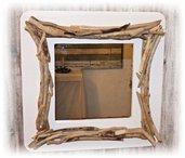 Specchio ALBERT con legni di mare, bois flotté, driftwood, treibholz,madera de mar