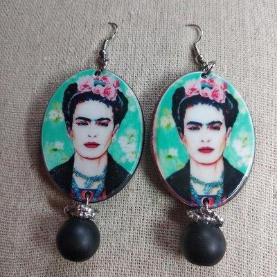 Orecchini donna Frida Khalo pendenti bigiotteria
