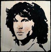 Jim Morrison su legno