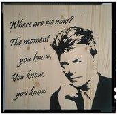 David Bowie ritratto di legno