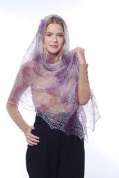 mantellina di lana, stola lana, mantella di lana, scialle, scielle di lana, scialle caldo, aggiornato, mantellina, lana di capra, colore lilla, sciarpa, un regalo per lei