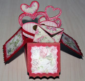 3d Card Rose Shabby