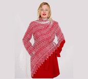 scialle, scielle di lano, scialle caldo, aggiornato, mantellina, lana di capra, colore blanco, sciarpa, un regalo per lei