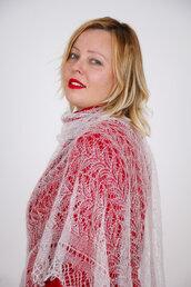 mantellina di lana, stola lana, mantello di lana, scialle, scielle di lana, scialle caldo, aggiornato, mantellina, lana di capra, colore blanco, sciarpa, un regalo per lei