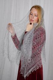 stola lana, stola nero, scialle di lana, mantellina di lana, mantello, mantello di lana, scialle, scialle caldo, aggiornato, mantellina, lana di capra, colore grigio, sciarpa, un regalo per lei
