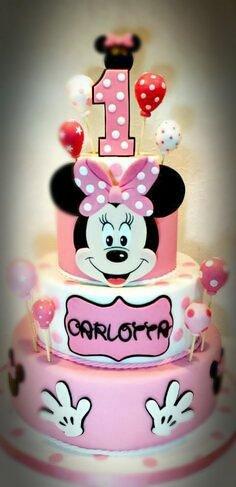 Torta Minnie Primo Compleanno Scenografica Feste Decorazioni