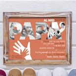 Regalo festa del Papà - Idea regalo per il Papà - Quadro personalizzato per il Papà - Quadretto Papà con fotografie
