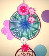 AcchiappaSogni delle Fate - Fairy Flowers - Atrapasuenos Handmade Collection^^
