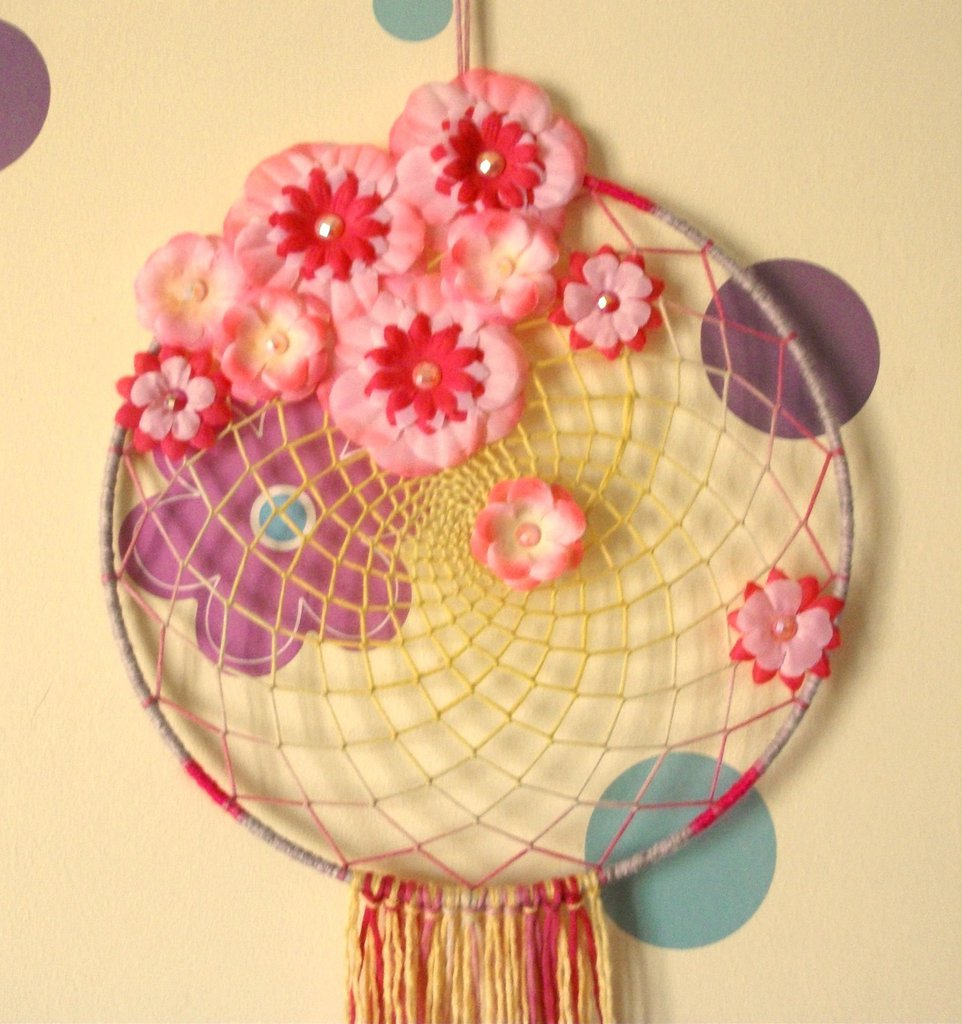 Maxi AcchiappaSogni della Primavera - Flower Power - Atrapasuenos Handmade Collection^^